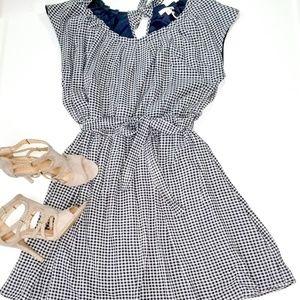 NWT!! LC Lauren Conrad navy gingham dress